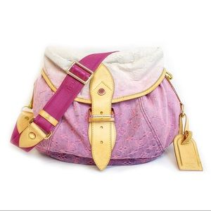LV Pink Denim Shoulder Bag